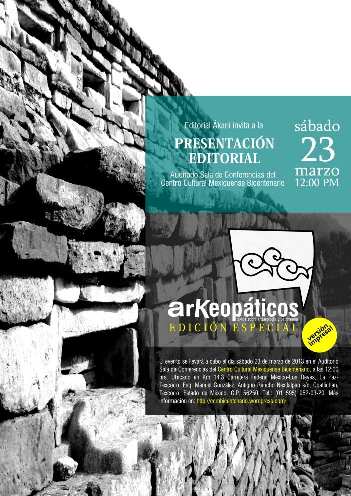 Cartel Presentación Revista ArKeopáticos impresa