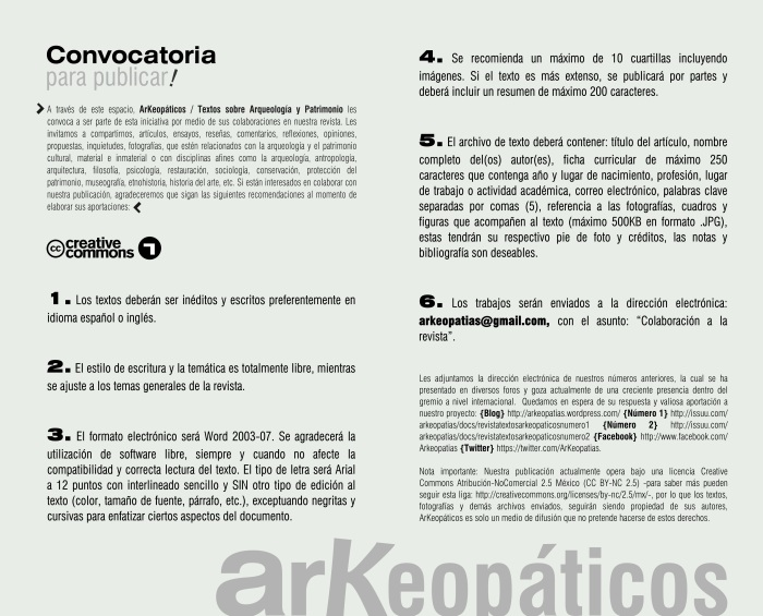 CONVOCATORIA ARK2013