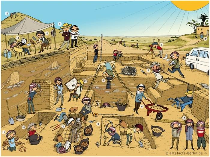 excavación caricatura