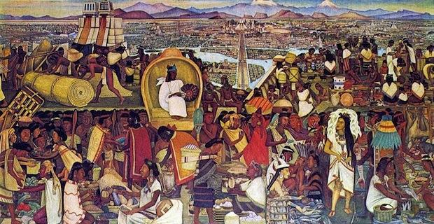 Mercado de Tlatelolco, Diego Rivera 1942
