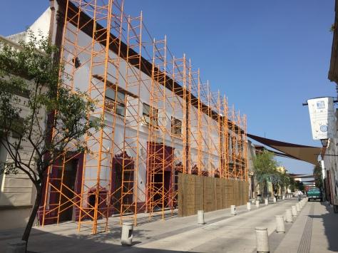 Fachada por la calle Morelos, SV, 2015