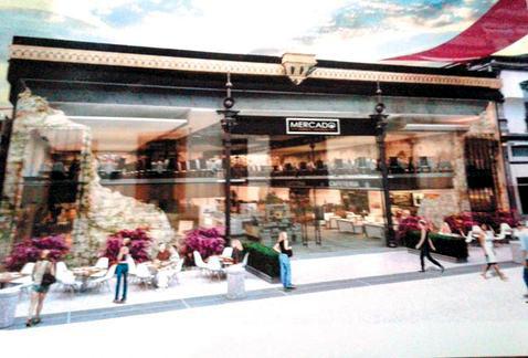 Propuesta de la fachada del mercado para la calle Morelos, Milenio Monterrey 2015