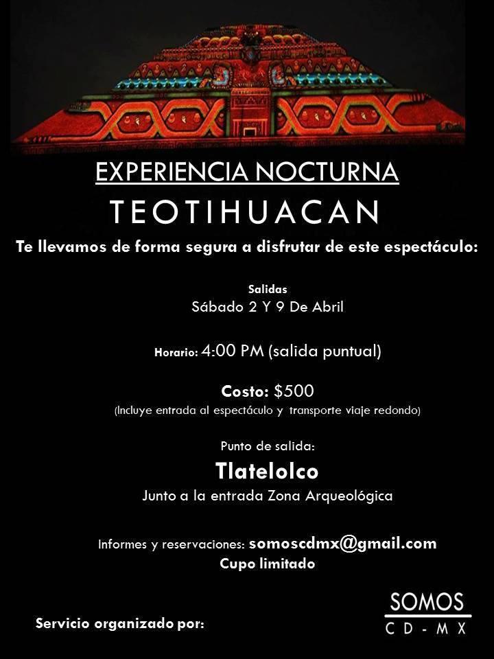 Inah acad micos sindicato nacional de profesores de Espectaculo de luz y sonido en teotihuacan
